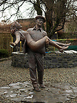 The statue to thye movie The Quiet Man' which features John Wayne and Maureen O'Hara in the village of Cong near Ashford Castle in County Mayo where Rory McIlroy and Erica Stoll are reputed to be getting married later this month.<br /> Photo Don MacMonagle<br /> <br /> Note: Photo taken January 2017