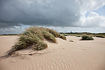 Lodbjerg Lighthouse across the dunes of Thy National Park, Denmark