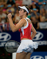 Maria Jose Martinez Sanchez (ESP) against Laura Robson (GB) in the final between Great Britain and Spain. Laura Robson (GBR) beat Maria Jose Martinez Sanchez (ESP) 6-1 7-6..International Tennis - Hyundai Hopman Cup XXII - Sat 00 Jan 2010 - Burswood Dome - Perth - Australia ..© Frey - AMN Images, 1st Floor Barry House, 20-22 Worple Road, London, SW19 4DH