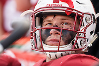 Stanford, CA - November 5, 2016: A.T. Hall during  the Stanford vs Oregon State game at Stanford Stadium Saturday. <br /> <br /> Stanford won 26-15.