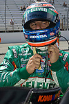 31 May 2008: Tony Kanaan (BRA) prepares for qualifying at the ABC Supply Company Inc. AJ Foyt 225 IndyCar race at the Milwaukee Mile, West Allis, Wisconsin.