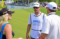 Kelley Cahill, Jon Rahm's (ESP) girlfriend, Adam Hayes, Rahm's caddie, and Rahm's agent, Tim Mickelson immediately following round 6 of the World Golf Championships, Dell Technologies Match Play, Austin Country Club, Austin, Texas, USA. 3/26/2017.<br /> Picture: Golffile | Ken Murray<br /> <br /> <br /> All photo usage must carry mandatory copyright credit (&copy; Golffile | Ken Murray)
