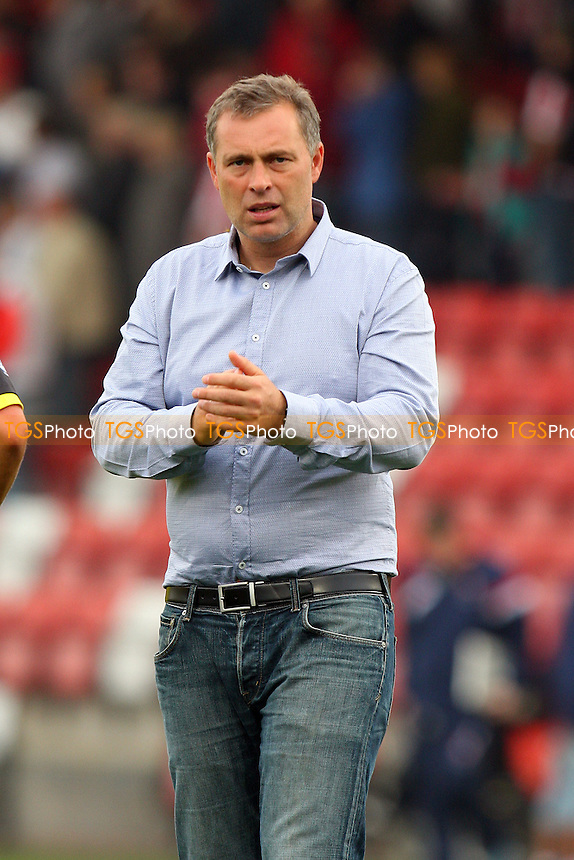 Dagenham and Redbridge manager Wayne Burnett - Cheltenham Town vs Dagenham and Redbridge - Sky Bet League Two action at the Whaddon Road Stadium on 20/09/2014 - MANDATORY CREDIT: Dave Simpson/TGSPHOTO - Self billing applies where appropriate - 0845 094 6026 - contact@tgsphoto.co.uk - NO UNPAID USE