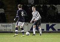 Adam Brown in the St Mirren v Dundee Clydesdale Bank Scottish Premier League Under 20 match played at St Mirren Park, Paisley on 14.1.13..