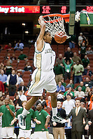 February 25, 2010:     Jacksonville guard Travis Cohn (1) goes up for a basket during Atlantic Sun Conference action between the Jacksonville Dolphins and the Campbell Camels at Veterans Memorial Arena in Jacksonville, Florida.  Jacksonville defeated Campbell 65-52.