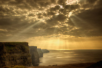 Cliffs of Moher with Gods rays Ireland
