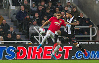 Andreas Pereira of Man Utd & DeAndre Yedlin of Newcastle United during the Premier League match between Newcastle United and Manchester United at St. James's Park, Newcastle, England on 6 October 2019. Photo by J GILL / PRiME Media Images.
