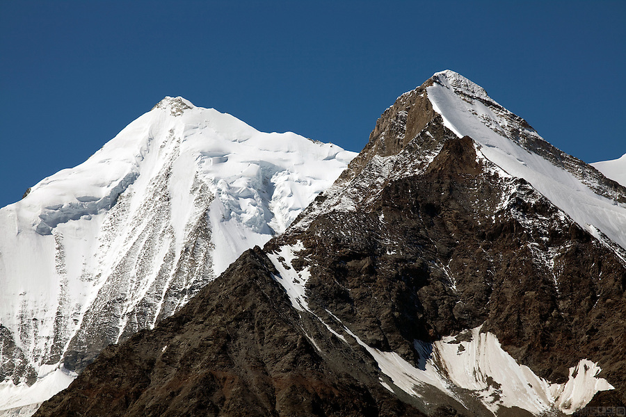 The eastern face of the Weisshorn, above the Mattertal, Switzerland.
