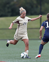 Boston College forward Rachel Davitt (24) passes the ball. Pepperdine University defeated Boston College,1-0, at Soldiers Field Soccer Stadium, on September 29, 2012.