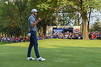 Dustin Johnson (USA) reacts to sinking the final putt of the day to win the World Golf Championships, Mexico, Club De Golf Chapultepec, Mexico City, Mexico. 2/24/2019.<br /> Picture: Golffile | Ken Murray<br /> <br /> <br /> All photo usage must carry mandatory copyright credit (© Golffile | Ken Murray)
