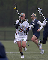 Boston College defender Jessie Coffield (15) brings the ball forward. Boston College defeated University of New Hampshire, 11-6, at Newton Campus Field, May 1, 2012.