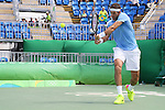 Juan Martin Del Potro (ARG), <br /> AUGUST 11, 2016 - Tennis : <br /> Men's Singles Third Round <br /> at Olympic Tennis Centre <br /> during the Rio 2016 Olympic Games in Rio de Janeiro, Brazil. <br /> (Photo by Yohei Osada/AFLO SPORT)