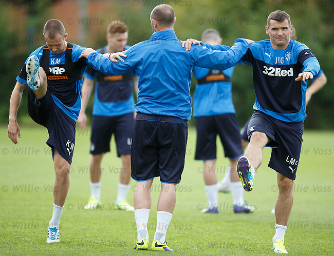 Kenny Miller, Kris Boyd and Lee McCulloch