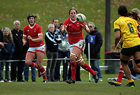 Kelly Russell takes a pass with sister Laura in support during the 2017 International Women's Rugby Series rugby match between Canada and Australia Wallaroos at Smallbone Park in Rotorua, New Zealand on Saturday, 17 June 2017. Photo: Dave Lintott / lintottphoto.co.nz