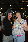 "Tabitha Dyer donates her LUCKY $ which she has since a child to the charity as she poses with General Hospital's Jackie Zeman (in Hats for Health booth at Women's Expo) wearing Hats for Health as Daytime's TV and Broadway stars get involved in helping launch Jane Elissa's ""Hats For Health"" to promote awareness and to raise money for Leukemia/Lymphoma cancer research and patient aid. The Hats For Health will be available through Jane Elissa at 917-325-1085 and through the new website ""Hats For Health"". Jackie Zeman was at the 8th Annual Connecticut Women's Expo presented by Comcast on September 11 & 12, 2010, Hartford, Connecticut.  (Photo by Sue Coflin/Max Photos)"