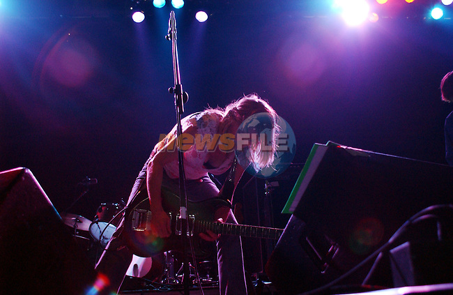 12th July, 2002. Sonic Youth's Kim Gordon performs at the `Witnness Music Festival` in Ireland..Mandatory Credit: Photo by Barry Cronin/ZUMA Press..(C) Copyright 2002 by Barry Cronin