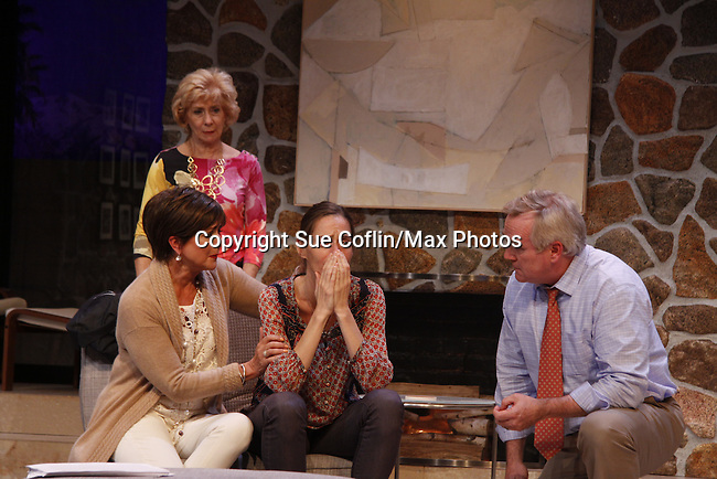 "As The World Turns' Colleen Zenk stars along with the cast -  Davy Raphaely, Peggy J. Scott and Brenda Withers and Malachy Cleary in ""Other Desert Cities"" at the tech rehearsal (in costume) on October 14, 2015 at Whippoorwill Halll Theatre, North Castle Library, Kent Place, Armonk, New York.  (Photo by Sue Coflin/Max Photos)"