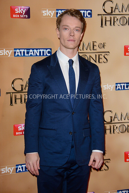 WWW.ACEPIXS.COM<br /> <br /> March 18 2015, London<br /> <br /> Alfie Allen arriving at the world premiere of Game of Thrones Season 5 at the Tower of London on March 18 2015 in London.<br /> <br /> By Line: Famous/ACE Pictures<br /> <br /> <br /> ACE Pictures, Inc.<br /> tel: 646 769 0430<br /> Email: info@acepixs.com<br /> www.acepixs.com