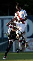 Manchester City midfielder Emmanuel Adebayor during a match at Merlo Field in Portland Oregon on July 17, 2010.