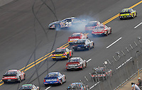 Apr 28, 2007; Talladega, AL, USA; Nascar Busch Series driver David Gilliland (25) spins after contact with Tony Stewart (33) during the Aarons 312 at Talladega Superspeedway. Mandatory Credit: Mark J. Rebilas