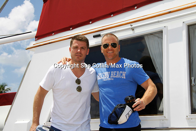 Sean Carrigan - The Young and The Restless -  Actors from Y&R, Days and General Hospital donated their time to Southwest Florida 16th Annual SOAPFEST and during the weekend took a break to chill on one of the boats to see dolphins and to swim off Marco Island, Florida on May 23, 2015 - a celebrity weekend May 22 thru May 25, 2015 benefitting the Arts for Kids and children with special needs and ITC - Island Theatre Co.  (Photos by Sue Coflin/Max Photos)