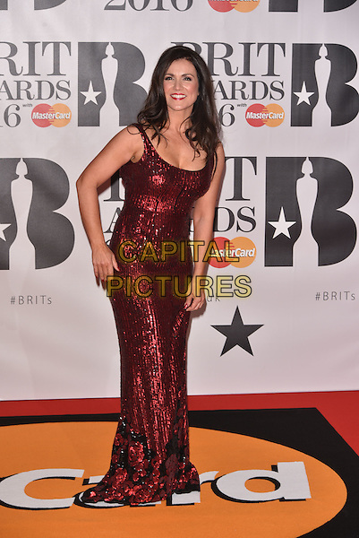 LONDON, ENGLAND - FEBRUARY 24: Susanna Reid attends the BRIT Awards 2016 at The O2 Arena on February 24, 2016 in London, England<br /> CAP/PL<br /> &copy;Phil Loftus/Capital Pictures