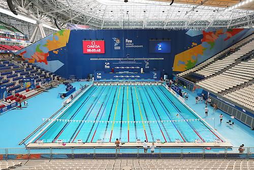 General view, JULY 30, 2015 - Swimming : 16th FINA World Championships Kazan 2015 Practice session at Kazan Arena in Kazan, Russia. (Photo by Yohei Osada/AFLO SPORT)