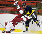 Rence Coassin (Harvard - 17), Kyle Bigos (Merrimack - 3) - The visiting Merrimack College Warriors defeated the Harvard University Crimson 3-1 (EN) at Bright Hockey Center on Tuesday, November 30, 2010.