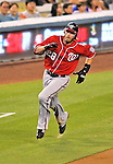 23 July 2011: Washington Nationals outfielder Jayson Werth in action against the Los Angeles Dodgers at Dodger Stadium in Los Angeles, California. The Dodgers rallied to defeat the Nationals 7-6 on a Rafael Furcal walk-off, RBI double in the bottom of the 9th inning. Mandatory Credit: Ed Wolfstein Photo