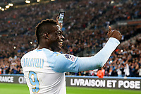 Mario Balotelli of Marseille celebrates taking a live video on social network <br /> Marsiglia 03-03-2019 <br /> Marseille vs Saint Etienne - Ligue 1 <br /> Foto Romain PERROCHEAU / Fep / Panoramic / Insidefoto <br /> ITALY ONLY