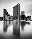 Canary Wharf in Black & White