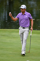 Xander Schauffele (USA) after sinking his putt on 17 during round 4 of the World Golf Championships, Mexico, Club De Golf Chapultepec, Mexico City, Mexico. 2/24/2019.<br /> Picture: Golffile | Ken Murray<br /> <br /> <br /> All photo usage must carry mandatory copyright credit (© Golffile | Ken Murray)