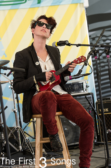 Amanda Palmer performs during Day 3 of the 2013 Firefly Music Festival in Dover, Delaware.