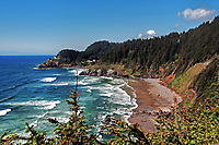 A view of the famous Heceta Head lighthouse at Devil's Elbow, Oregon.