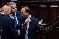 VOTAZIONE ALLA CAMERA DEI DEPUTATI IN SEDUTA COMUNE PER L  ELEZIONE DI UN GIUDICE DELLA CORTE COSTITUZIONALE..NELLA FOTO  GUIDO CROSETTO  DENIS VERDINI E ANGELINO ALFANO..ROMA 5 OTTOBRE  2011..PHOTO  SERENA CREMASCHI INSIDEFOTO..............................