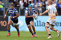 Zach Mercer of Bath Rugby in possession. Gallagher Premiership match, between Bath Rugby and Wasps on May 5, 2019 at the Recreation Ground in Bath, England. Photo by: Patrick Khachfe / Onside Images