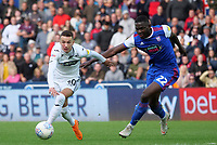 Swansea City's Bersant Celina gets away from Ipswich Town's Aristote Nsiala and goes onto score Swansea City's second goal <br /> <br /> Photographer Ian Cook - CameraSport<br /> <br /> The EFL Sky Bet Championship - Swansea City v Ipswich Town - Saturday 6th October 2018 - Liberty Stadium - Swansea<br /> <br /> World Copyright &copy; 2018 CameraSport. All rights reserved. 43 Linden Ave. Countesthorpe. Leicester. England. LE8 5PG - Tel: +44 (0) 116 277 4147 - admin@camerasport.com - www.camerasport.com