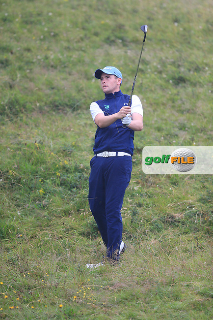 Robert Brazill (Naas) during the semi final of the  North of Ireland Amateur Championship, Portstewart Golf Club, Portstewart, Antrim,  Ireland. 12/07/2019<br /> Picture: Golffile | Fran Caffrey<br /> <br /> <br /> All photo usage must carry mandatory copyright credit (© Golffile | Fran Caffrey)