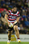 Kalolo Tuiloma looks fro support during The game of Three Halves, a pre-season warm-up game between the Counties Manukau Steelers, Northland and the All Blacks, played at ECOLight Stadium, Pukekohe, on Friday August 12th 2016. Photo by Richard Spranger.