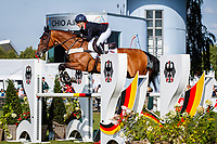 GBR-Laura Collett rides London 52 during the SAP Cup - CICO4*-S Nations Cup Eventing Showjumping. Interim-1st. 2019 GER-CHIO Aachen Weltfest des Pferdesports. Friday 19 July. Copyright Photo: Libby Law Photography