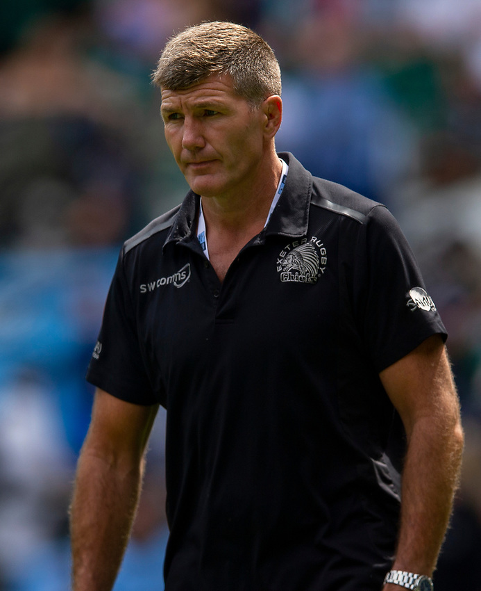 Exeter Chiefs' Head Coach Rob Baxter<br /> <br /> Photographer Bob Bradford/CameraSport<br /> <br /> Gallagher Premiership Final - Exeter Chiefs v Saracens - Saturday 1st June  2018 - Twickenham Stadium - London<br /> <br /> World Copyright © 2019 CameraSport. All rights reserved. 43 Linden Ave. Countesthorpe. Leicester. England. LE8 5PG - Tel: +44 (0) 116 277 4147 - admin@camerasport.com - www.camerasport.com