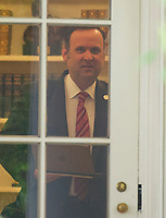 White House Director of Social Media Dan Scavino looks out the window of the Oval Office of the White House in Washington, DC prior to United States President Donald J. Trump departing for Miami, Florida on Friday, June 16, 2017.  In Miami, the President will give remarks and participate in a signing on the United States&rsquo; policy towards Cuba.<br /> Credit: Ron Sachs / CNP /MediaPunch