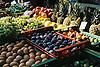 Fruits displayed at the farmer's market in Santa Maria del Cami<br /> <br /> Frutas presentadas en el mercado de Santa Maria del Cam&iacute;<br /> <br /> Obst auf dem Wochenmarkt in Santa Mar&iacute;a de Cami<br /> <br /> 2700 x 1809 px<br /> 150 dpi: 45,72 x 30,63 cm<br /> 300 dpi: 22,86 x 15,32 cm<br /> Original: 35 mm