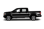 Car Driver side profile view of a 2019 Ford F-150 XL-SuperCrew 2 Door Pick-up Side View