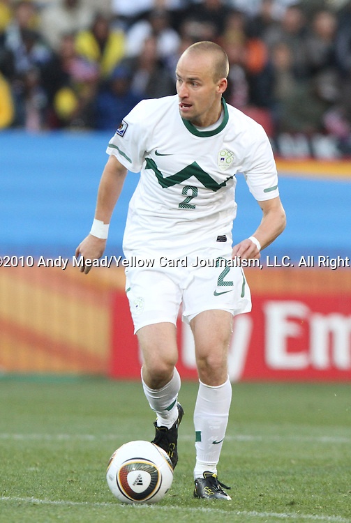 18 JUN 2010: Miso Brecko (SVN). The Slovenia National Team played the United States National Team to a 2-2 at Ellis Park Stadium in Johannesburg, South Africa in a 2010 FIFA World Cup Group C match.