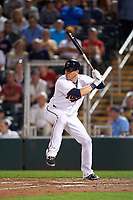 Minnesota Twins left fielder Ryan Sweeney (26) at bat during a Spring Training game against the Boston Red Sox on March 16, 2016 at Hammond Stadium in Fort Myers, Florida.  Minnesota defeated Boston 9-4.  (Mike Janes/Four Seam Images)