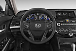 Car pictures of steering wheel view of a 2015 Honda Crosstour EX 4 Door Hatchback Steering Wheel