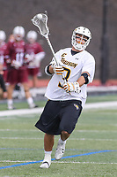 Towson, MD - May 6, 2017: Towson Tigers Brian Bolewicki (3) in action during game between Towson and UMASS at  Minnegan Field at Johnny Unitas Stadium  in Towson, MD. May 6, 2017.  (Photo by Elliott Brown/Media Images International)