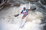 November 5, 2016 - Hendersonville, North Carolina, Kayaker.  John Grace, in the midst of the Scream Machine Rapids during the 21st annual Green Race.The Green River Narrows provides one of the most intense and extreme whitewater venues in the world and is home to many of the USA's most talented paddlers.  Green River Narrows, Hendersonville, North Carolina.
