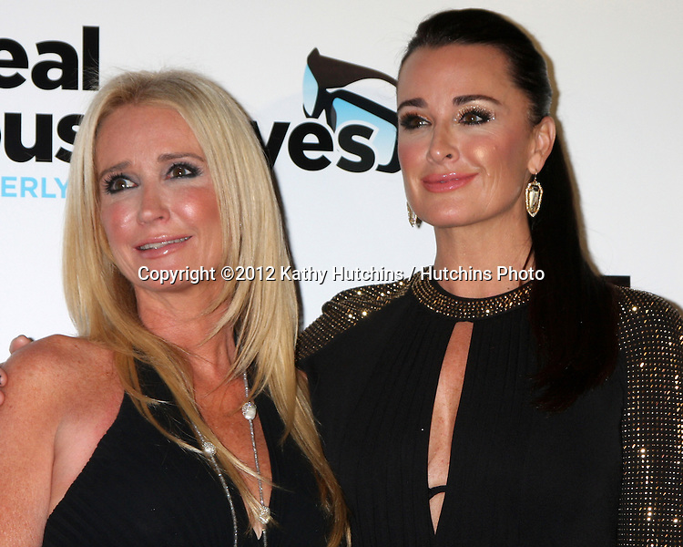 "LOS ANGELES - OCT 21:  Kim Richards, Kyle Richards arrives at  ""The Real Housewives of Beverly Hills"" Season three premiere red carpet event at Roosevelt Hotel on October 21, 2012 in Los Angeles, CA"